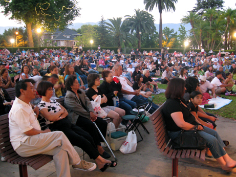 Hundreds gather to watch the free concert series provided by Levitt Pavilion of the Performing Arts